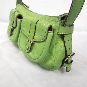 Worthington Spring Green Leather Shoulder Bag